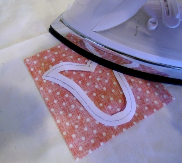 tulip  fusible ironed to wrong side
