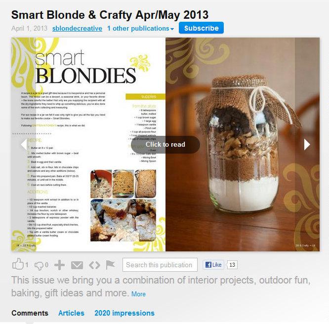 ISSUU smart blond & crafty cropped