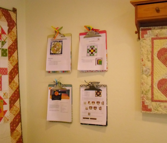 clipboards on wall
