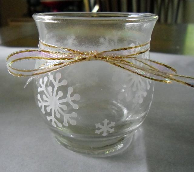 snowflake gold ribbon