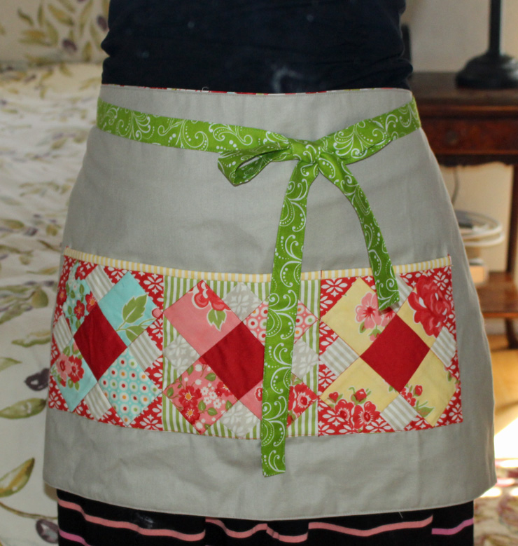 reversible half apron