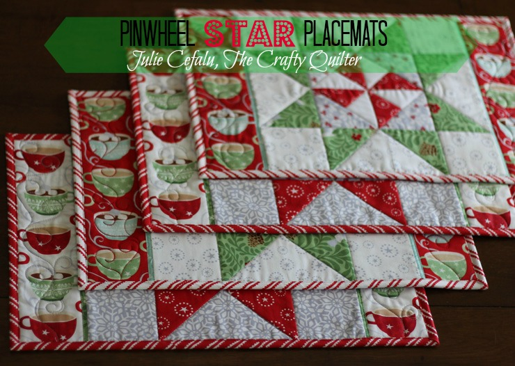 Christmas In August Pinwheel Star Table Runner Placemats