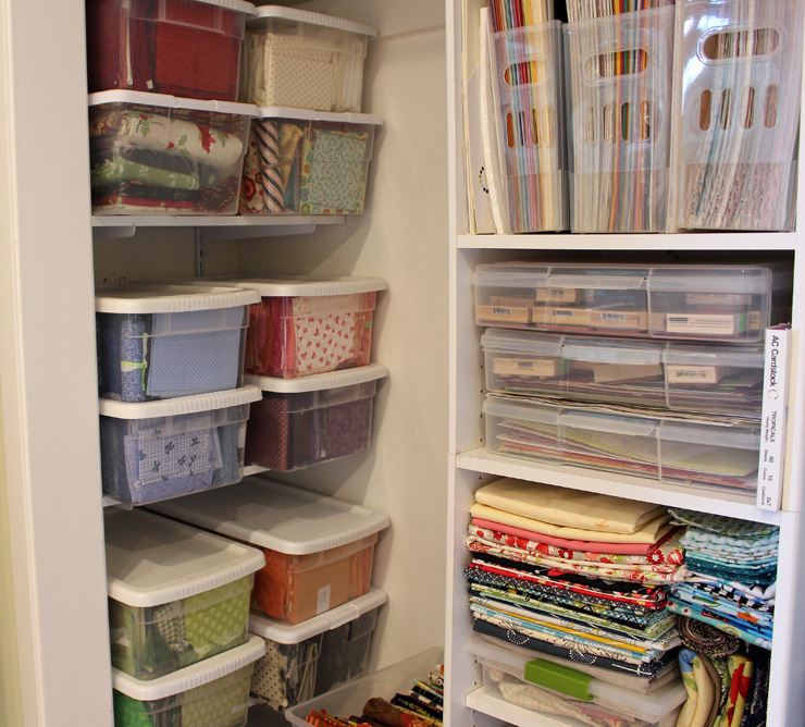 Fabric Storage @ The Crafty Quilter