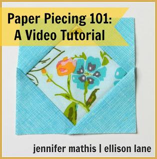 paper piecing video tutorial @ Ellison Lane Quilts