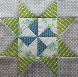 Pinwheel Star Quilt Block