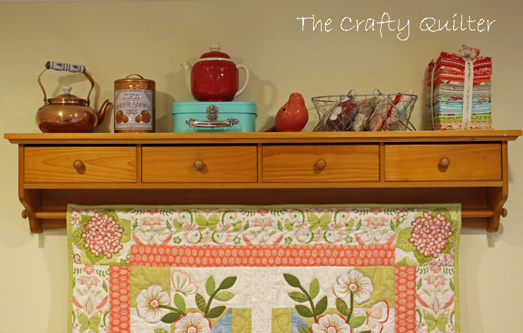Quilt shelf @ The Crafty Quilter