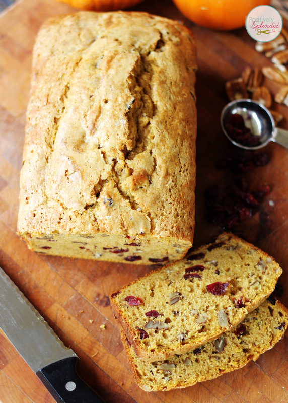 Cranberry Pumpkin Bread Recipe @ Positively Splendid
