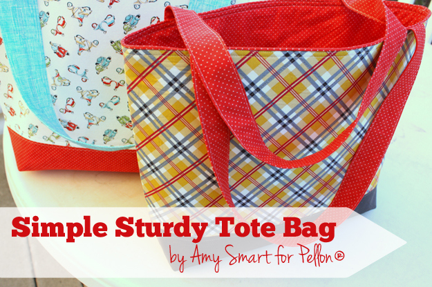 Simple Sturdy Tote Bag Tutorial by Amy Smart for Pellon