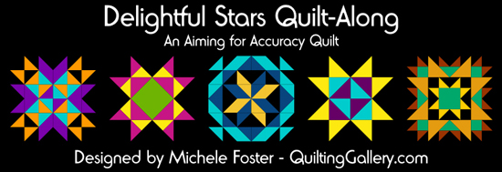 delightful-stars-quilt along @ The Quilting Gallery