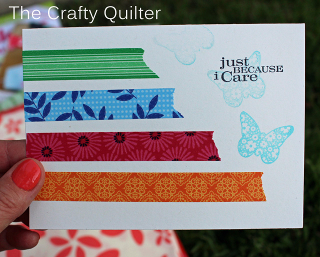 Washi Tape, I Care Card @ The Crafty Quilter