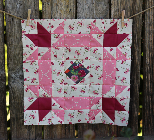 Blossoms of Hope Quilt Block