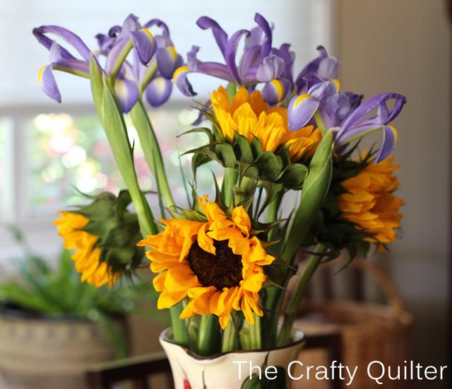 sunflowers and iris copy