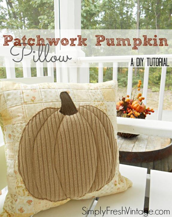 Patchwork Pumpkin Pillow