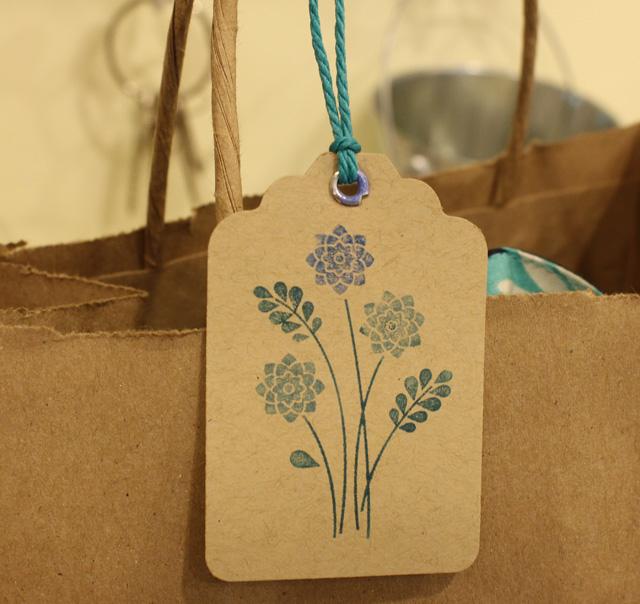 drawstring bag gift tag