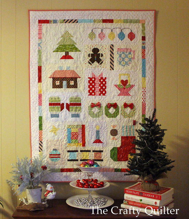 Quilty Christmas Quilt made by Julie Cefalu