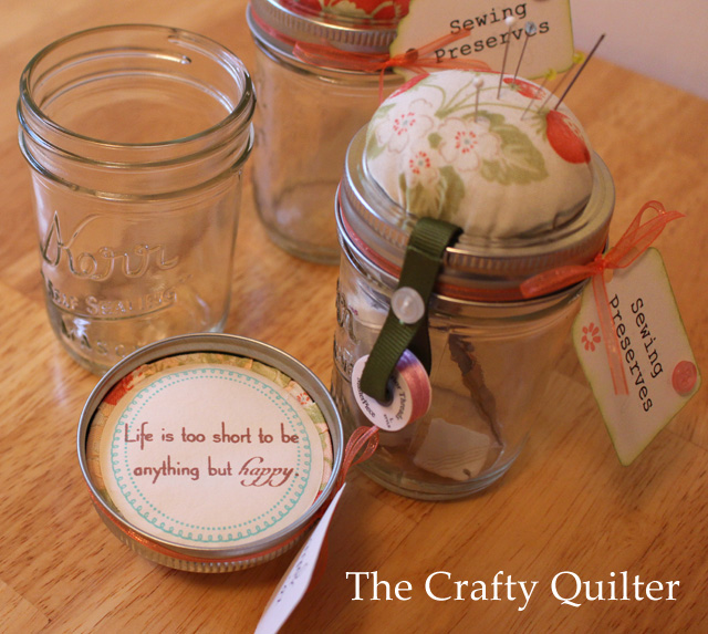 Mason Jar Sewing Kit @ The Crafty Quilter
