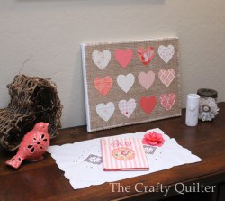 Hearts & Burlap Canvas Art