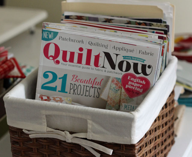 magazines in basket