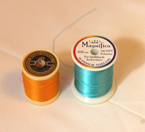 DMC machine embroidery thread and Magnifico Thread