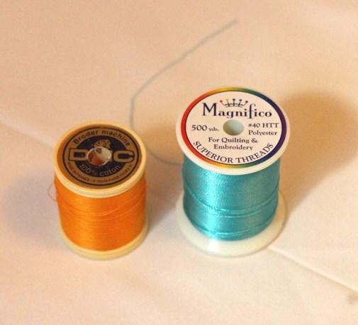 DMC machine embroidery thread and Magnifico Thread