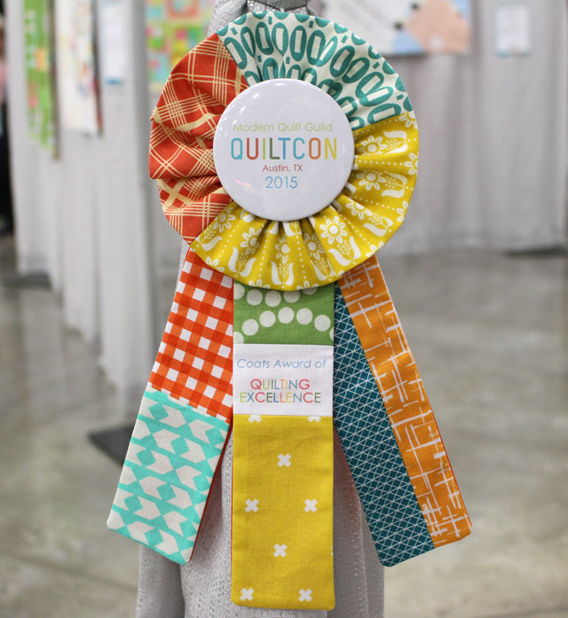 Award Ribbon from QuiltCon