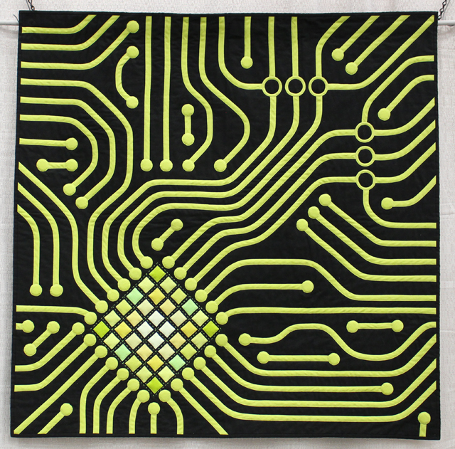 "1st Place, Bias Tape Challenge:  ""CPU"", by Katherine Jones"