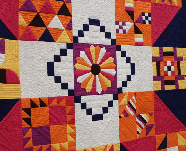 """Quilting Detail of """"Moccasin"""" by Anne Marie Chany"""