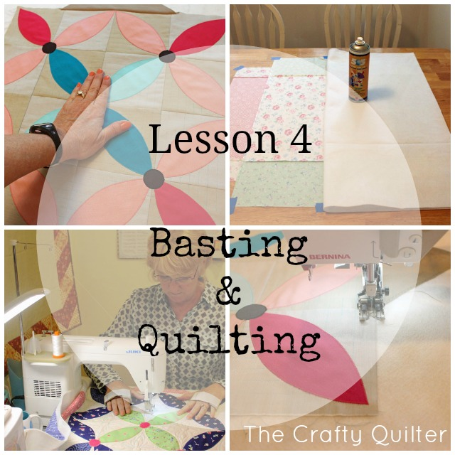 Basting & Quilting Lesson @ The Crafty Quilter. Part of the Spring Petals Quilt Along
