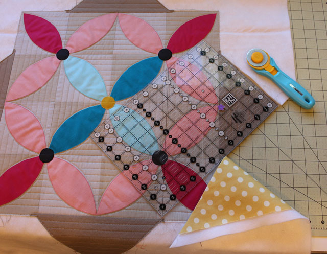 quilt trimmed before binding