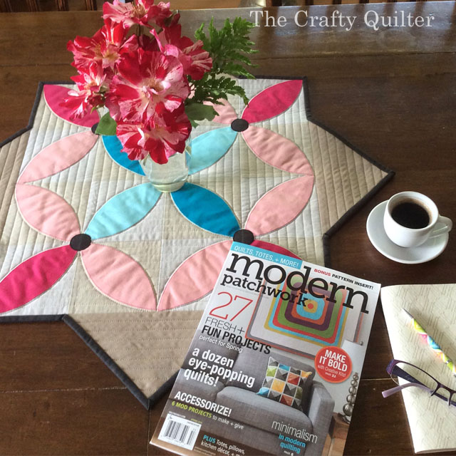 Spring Petals Table Topper by Julie Cefalu @ The Crafty Quilter