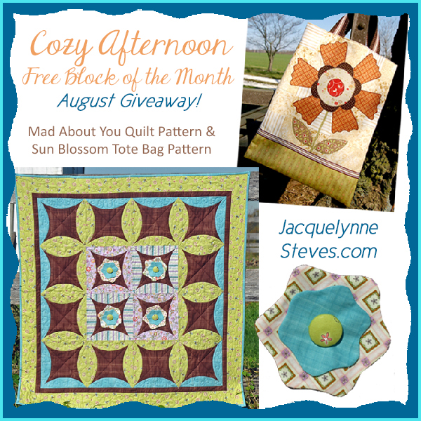 Giveaway for August- Cozy Afternoon Free BOM