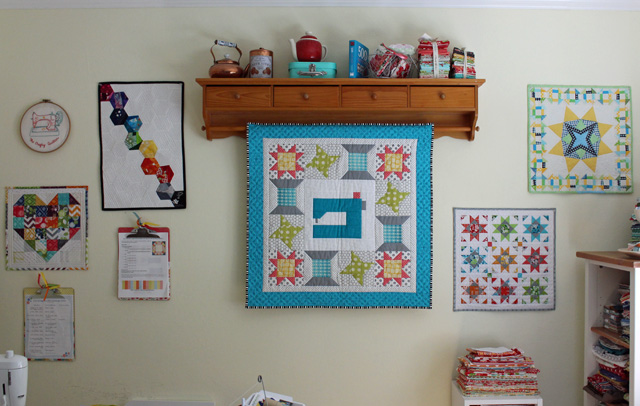 sewing room mini wall