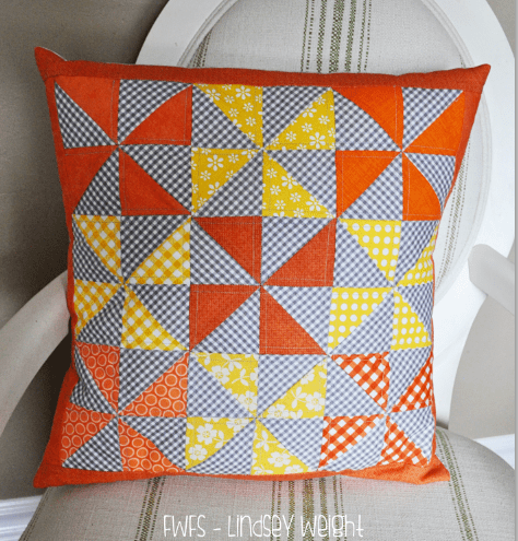 candy corn pinwheels pillow