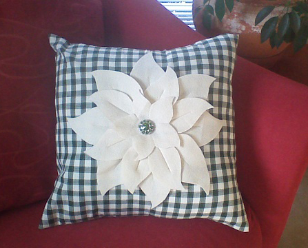 Poinsettia Pillow by Gina