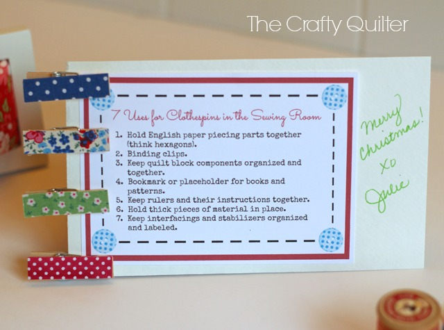 Fabric Covered Clothespin Tutorial @ The Crafty Quilter