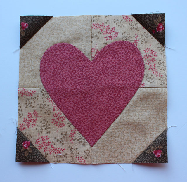 Hearts Aflutter Block made by Julie Cefalu