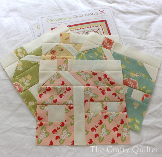 Crossroads Quilt Along House blocks @ The Crafty Quilter
