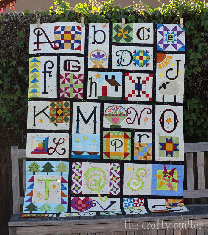A-Z for Ewe and Me, made by Julie Cefalu, designed by Janet Stone