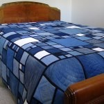Stained Glass Denim quilt