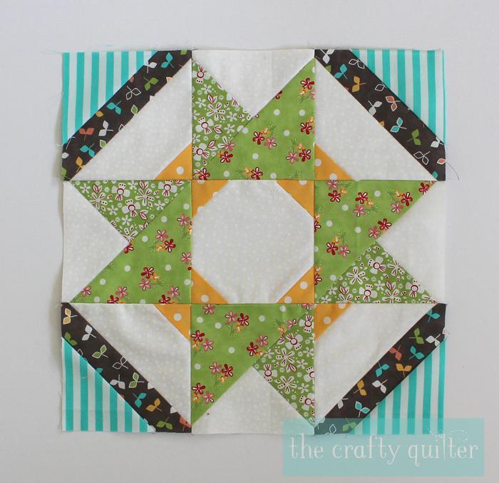 Sugar Block Club Block 4, made by Julie Cefalu