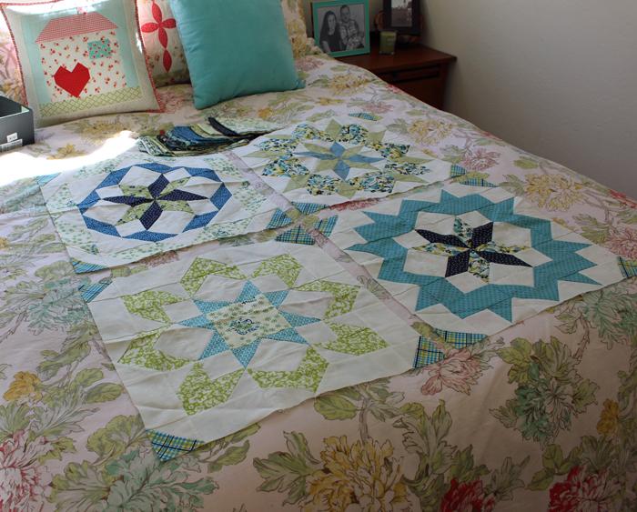 Supersized Stars Quilt blocks made by Julie Cefalu