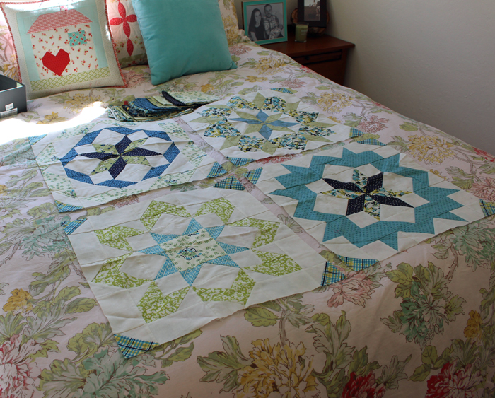 Supersized Stars Quilt blocks made by Julie Cefalu