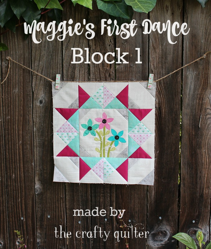 Maggie's First Dance, Block 1 made by Julie Cefalu @ The Crafty Quilter
