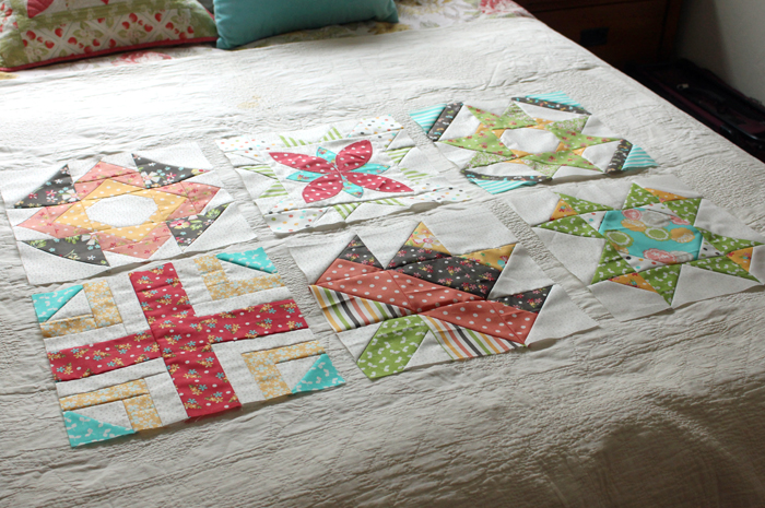 Sugar Block Club BOM blocks made by Julie Cefalu