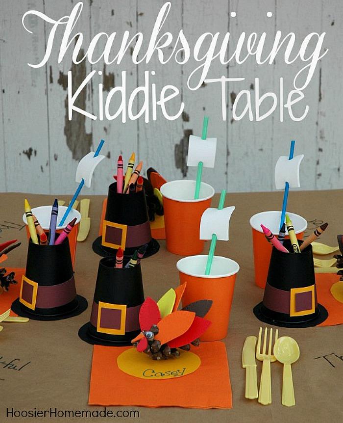 Thanksgiving Kiddie Table @ Hoosier Homemade