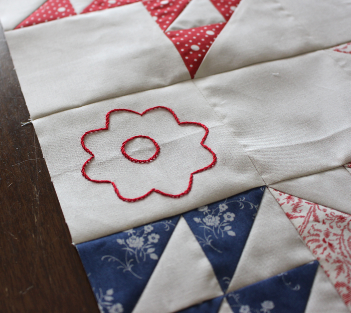 Portage Lake BOM, month 1 @ The Crafty Quilter