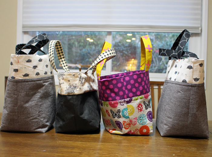 Lunch bags made by Julie Cefalu using a tutorial by Ayumi at Pink Penguin