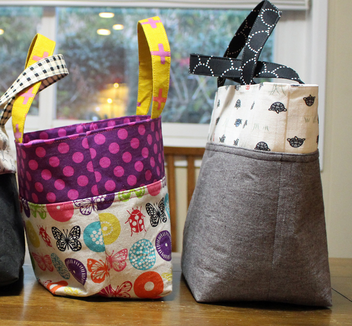Lunch bag tutorial by Ayumi of Pink Penguin; made by Julie Cefalu with size increase cutting dimensions at The Crafty Quilter