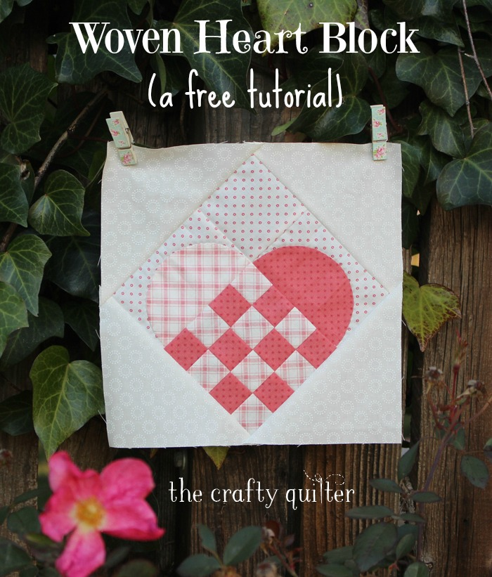 Woven Heart Quilt Block Tutorial @ The Crafty Quilter