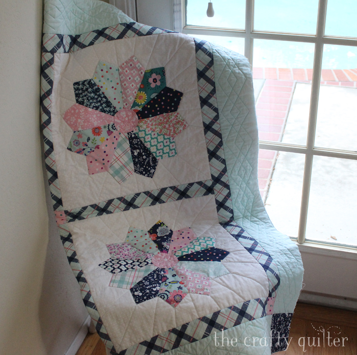 Enchanted Baby Quilt using the Chunky Dresden Plate Tutorial @ The Crafty Quilter